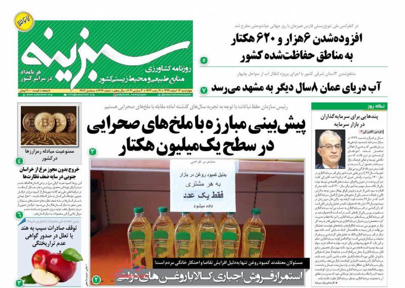 روزنامه سبزینه